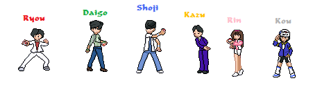 Gosei Sentai Dairanger Pokemon Sprites by Jaimiegirlz123x