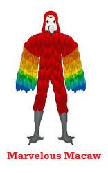 Marvelous Macaw by Jaimiegirlz123x