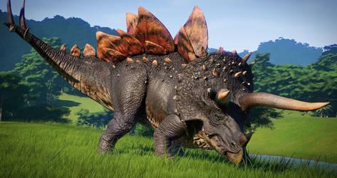 Stegoceratops by kcajd