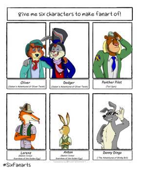 6 Character Fanart Challenge 2