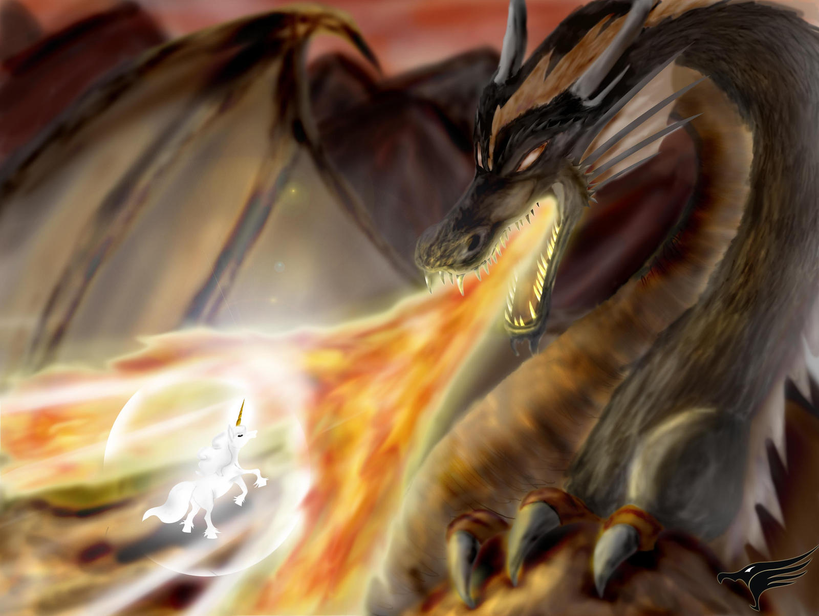 Dragon Vs Unicornio By Youcan619 On DeviantArt