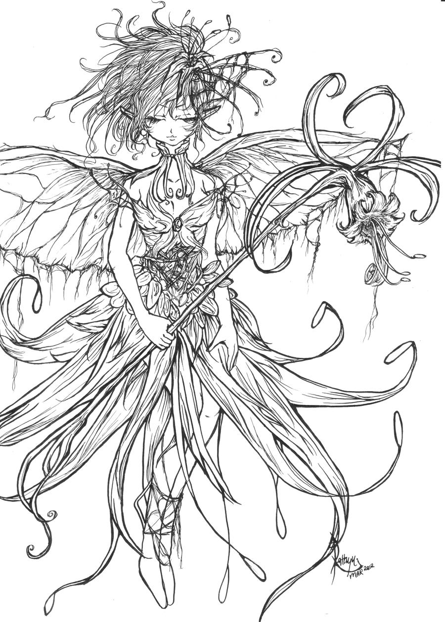 Line Art Lily : Spider lily line art by yuyuarts on deviantart