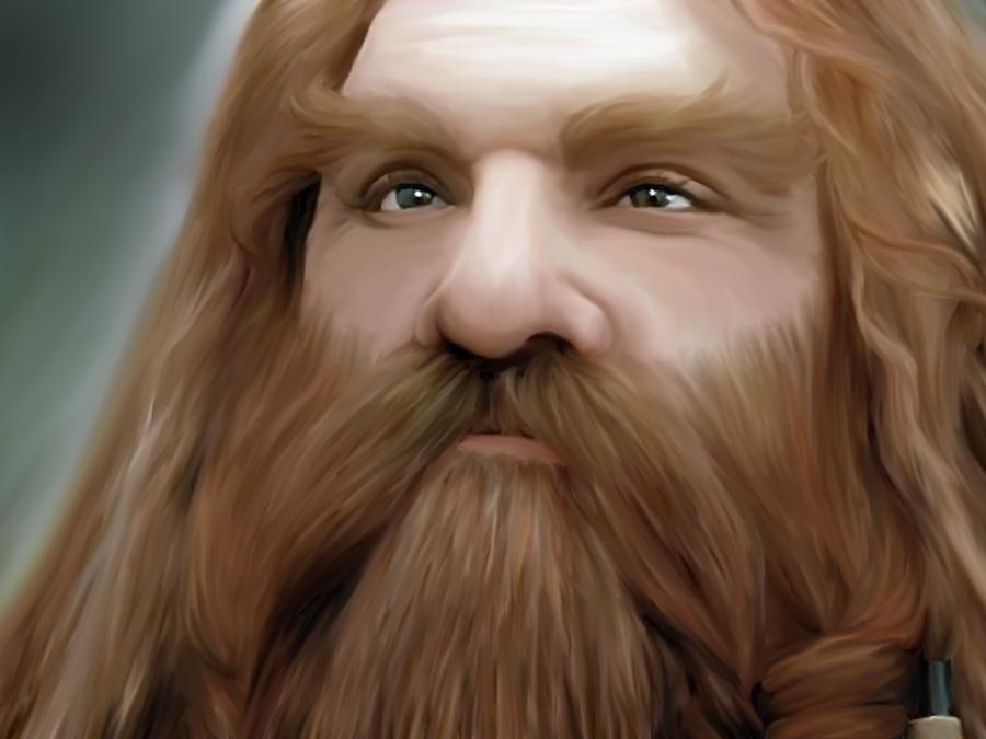 dibujos - el Hobbit  impresionantes dibujos Gimli__son_of_gloin_by_ampenergy-d4qohzk