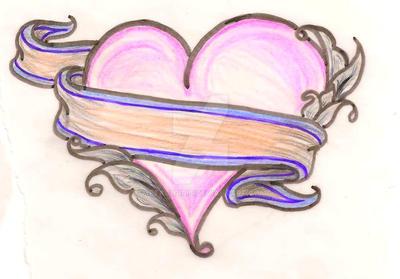 Heart Tattoo by Metacharis