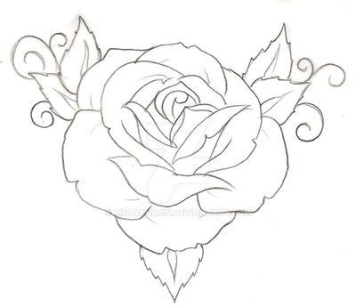Rose Tattoo by Metacharis