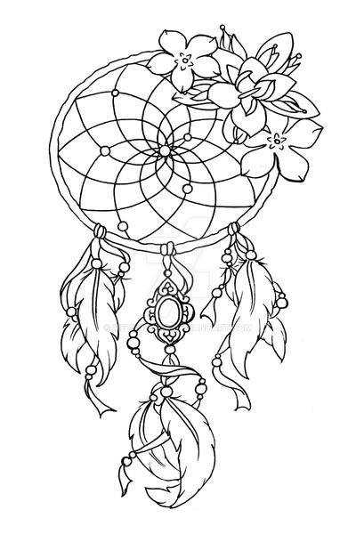 Dream catcher tattoo by metacharis on deviantart for Dream catcher tattoo template