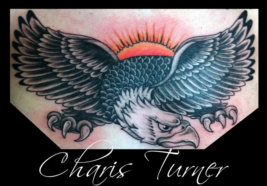 Traditional Eagle Chest Piece Tattoo by Metacharis on ...