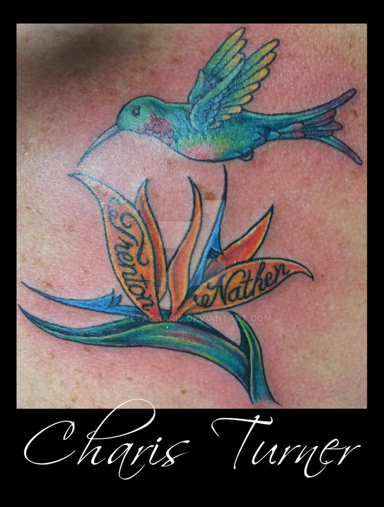hummingbird and flower tattoo by metacharis on deviantart. Black Bedroom Furniture Sets. Home Design Ideas