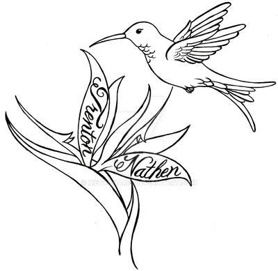 Hummingbird And Flower Tattoo By Metacharis On Deviantart