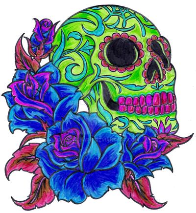 ba6492bfe01b0 Sugar Skull Tattoo by Metacharis on DeviantArt