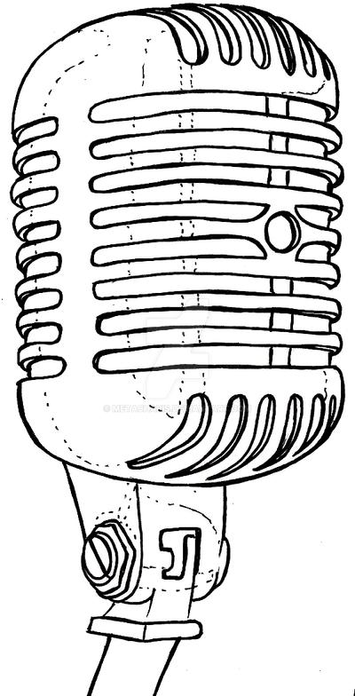 Retro Microphone Tattoo by Metacharis