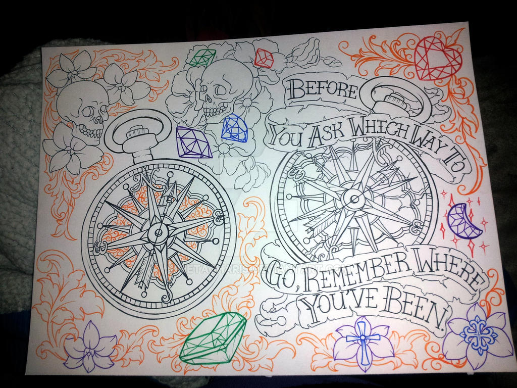 Compass Tattoo Line Drawing : Compass tattoo by metacharis on deviantart