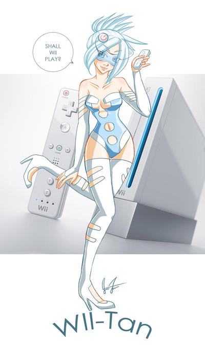 Imagine Gaming Consoles/Software as People^_^ WII_Tan_by_shikami