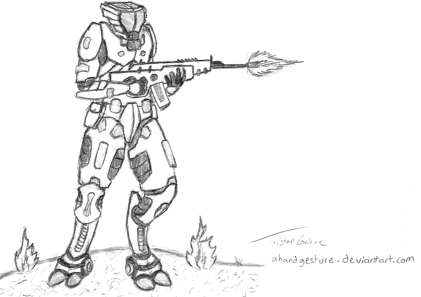 Tui-Ro-Sha Soldier by ahandgesture