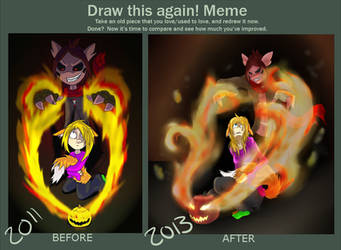 Before and After: Hotaru+Valerie~ Happy Halloween