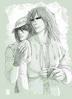 Atticus and Taylor by Vyrhelle-comm