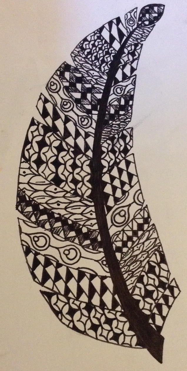 Zentangle- Feathered by ematati97008