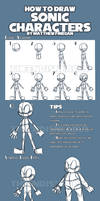 How To Draw Sonic Characters by TheEndIsNearUs