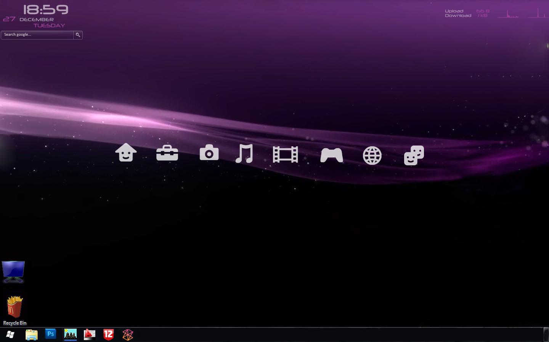 My PS3 XMB rainmeter desktop