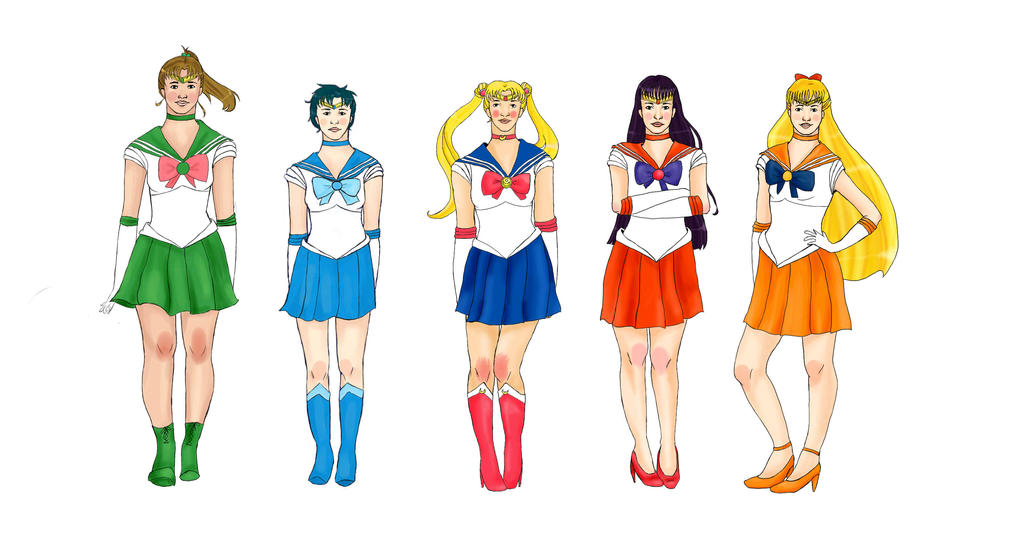 Sailor Scouts by malinnlis