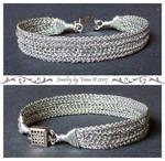 Simple silver bracelet by VanaJewelry