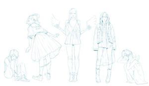 Fashion Girls Sketches part 2