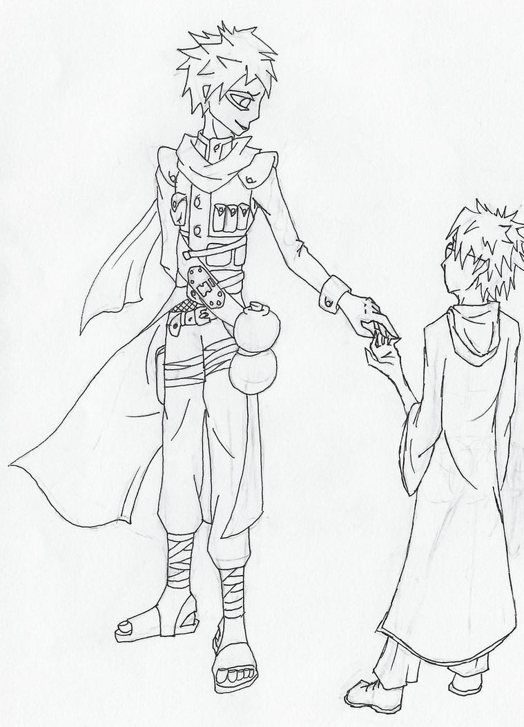 Gaara and Harry from Stairs of Sand by Slyfoxcub on DeviantArt