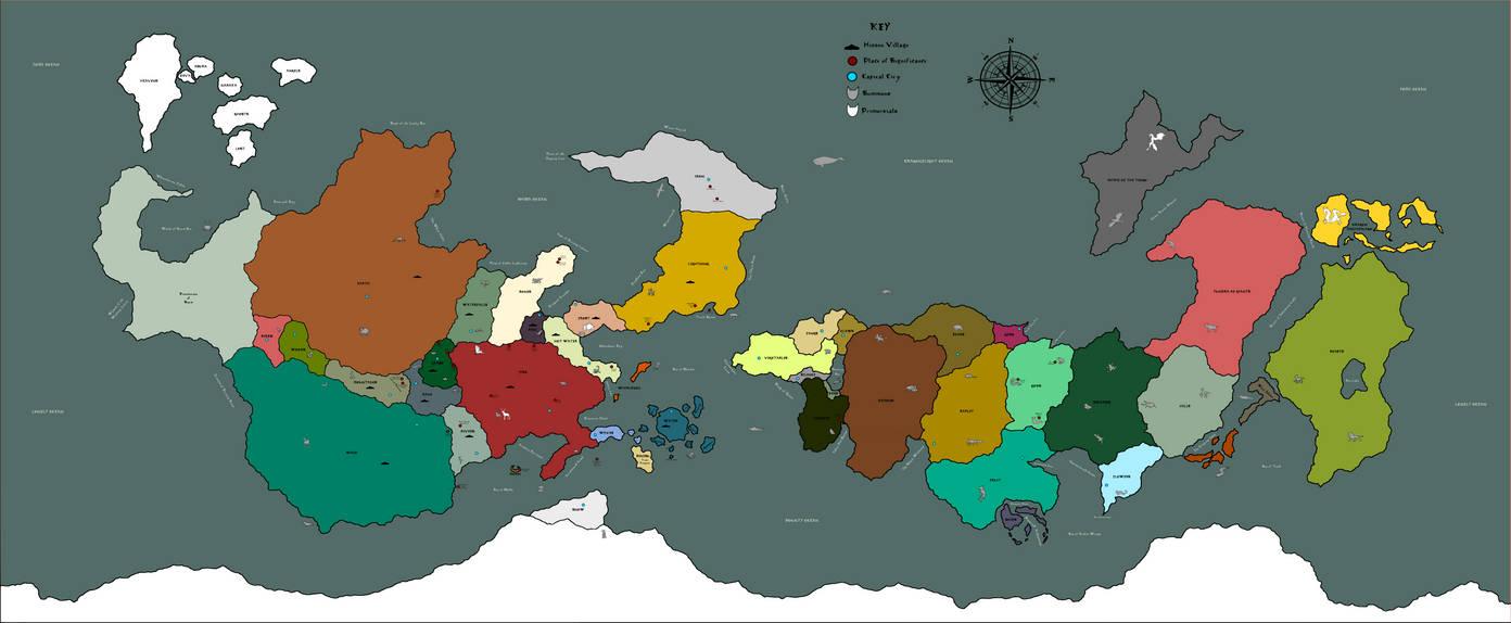 Naruto Political World Map by Slyfoxcub on DeviantArt