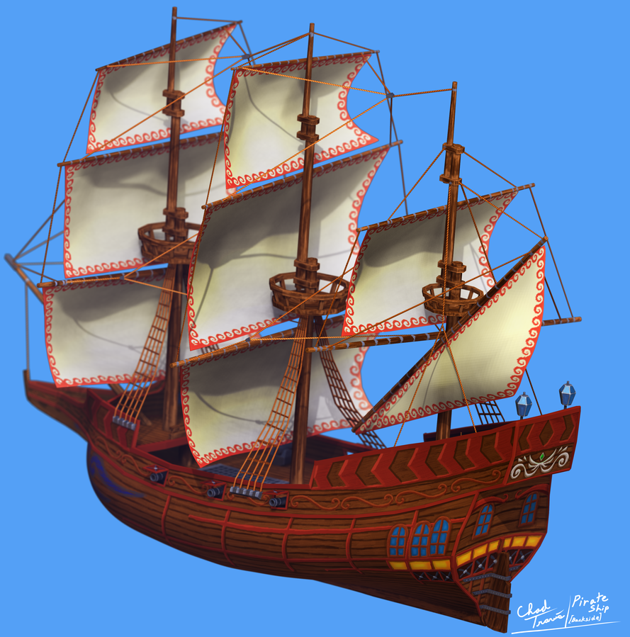 pirate ship back side by darkness545454 on deviantart