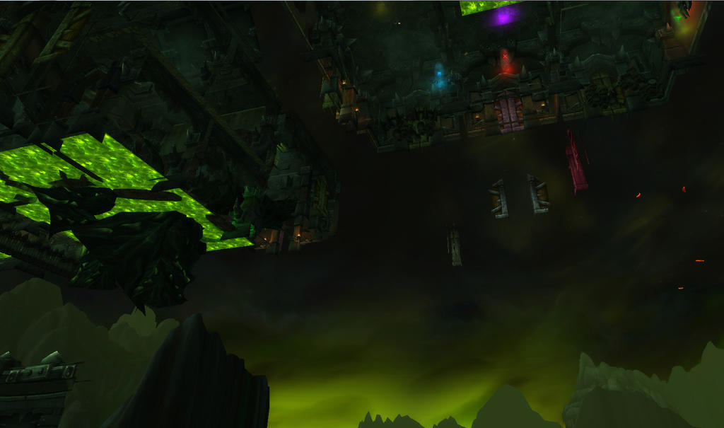 WoW Screenshot   me below Iskar's room by RhennSacara