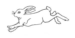 Rabbit Tattoo 1 :line art: