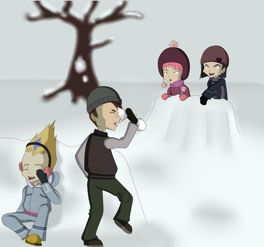 Code Lyoko Secret Santa - Snow Day by Runya-Isamu