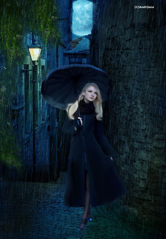 Rainy-night by AnGel-Perroni