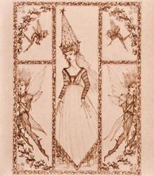 Elven Princess Sketch by samfae98