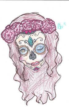 Sugar Skull Colored