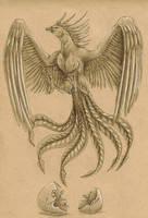 Phoenix Tattoo Design by DelusionalPuffball