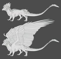 Featherback Lineart