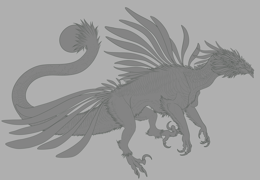 Line Art Feather : Feather raptor dragon lines by delusionalpuffball on deviantart