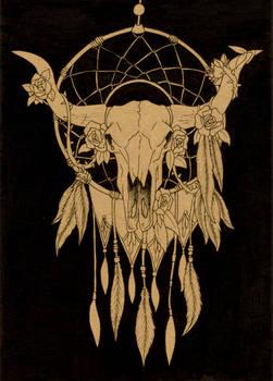 Commission #66 - Inktober Dreamcatcher