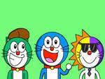 The Three Doraemons
