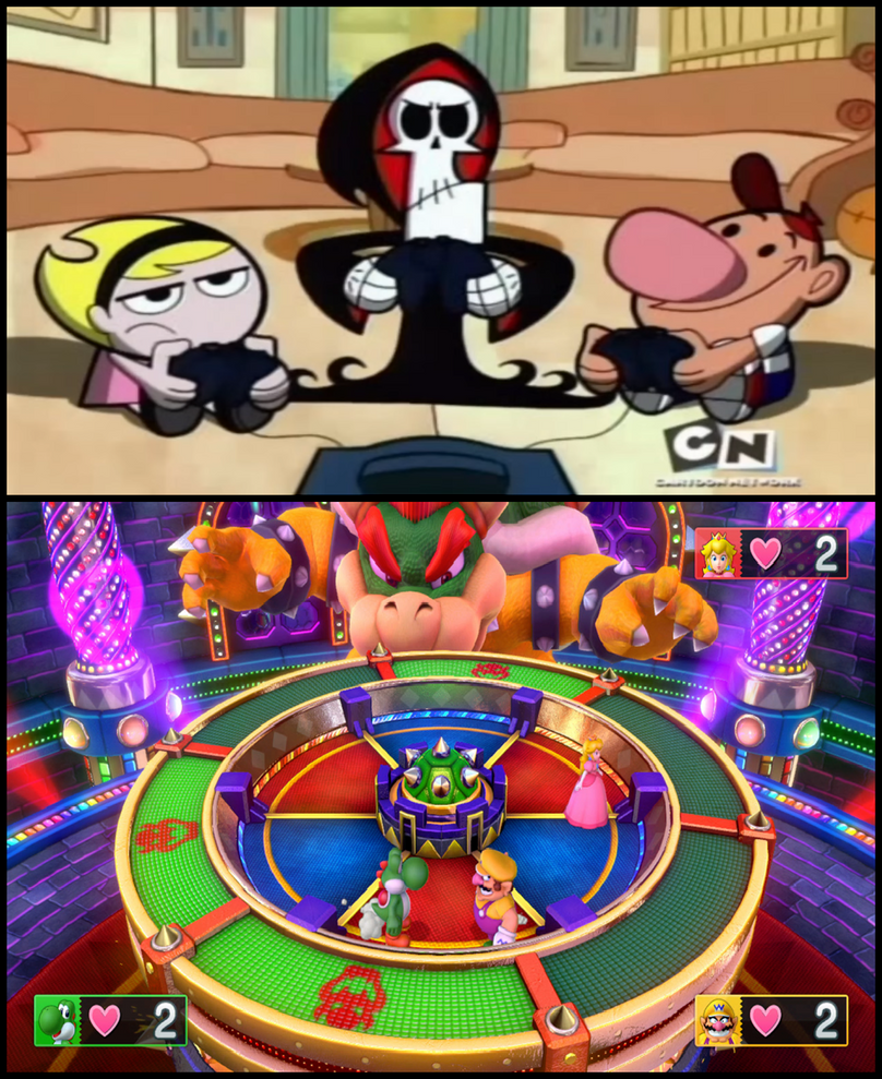 Billy and Mandy - Playing Mario Party 10 by ian2x4