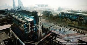 AEON7 - Republican Ground Shipyard by zilekondic