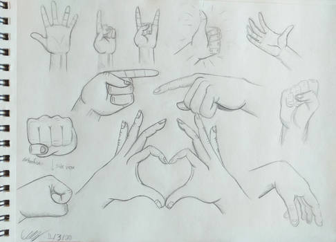 Study 1 - Hand poses (part 1)