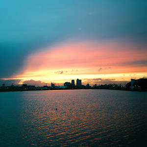 London Royal Docks Sunset