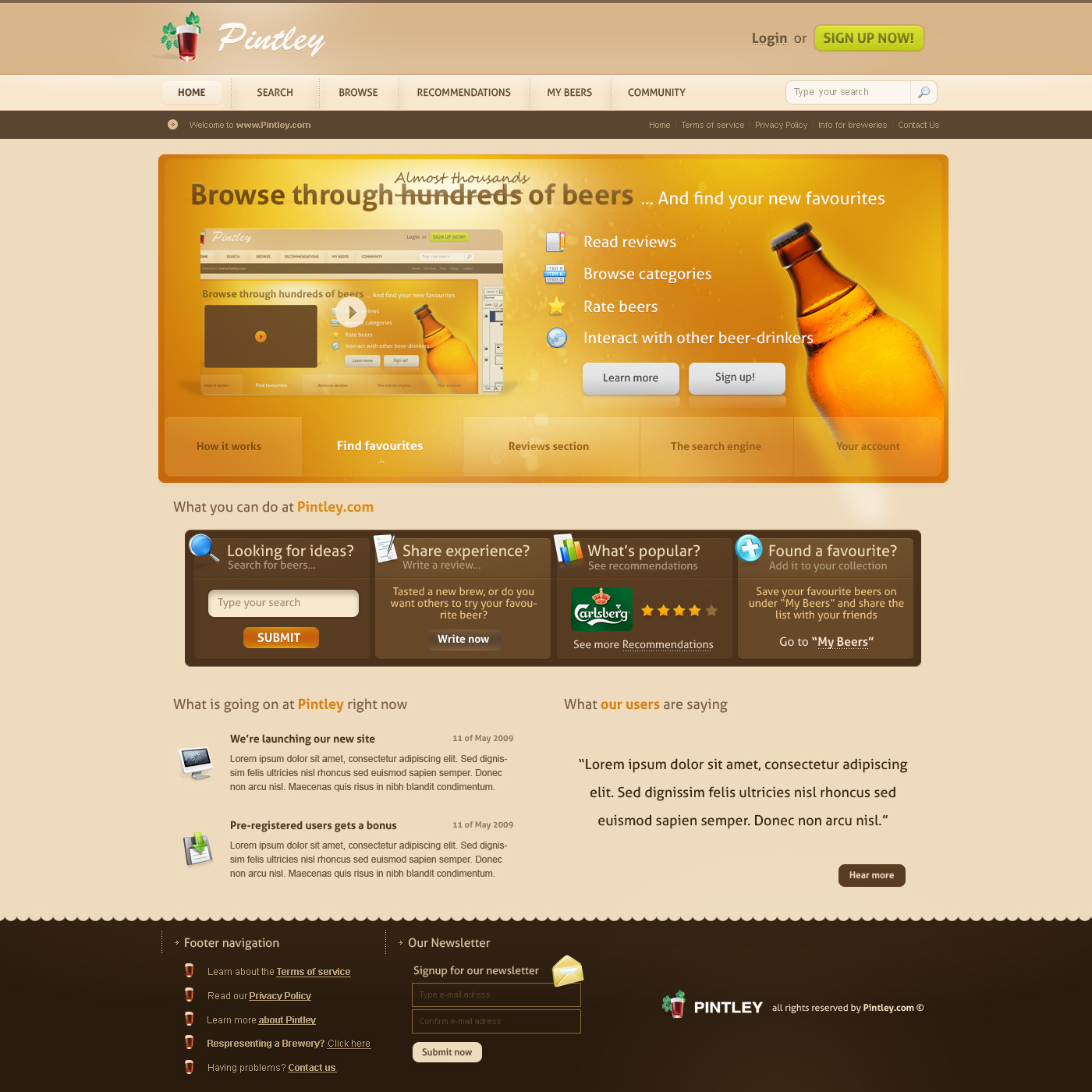 Pintley Website by ejsing