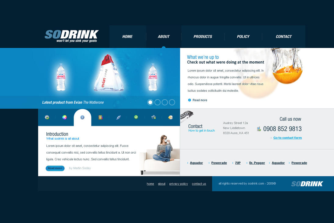 SODRINK Layout by ejsing