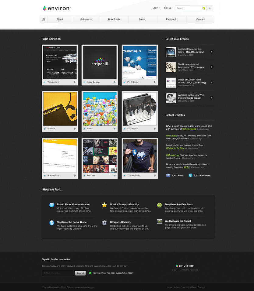 Environ Web Design by ejsing