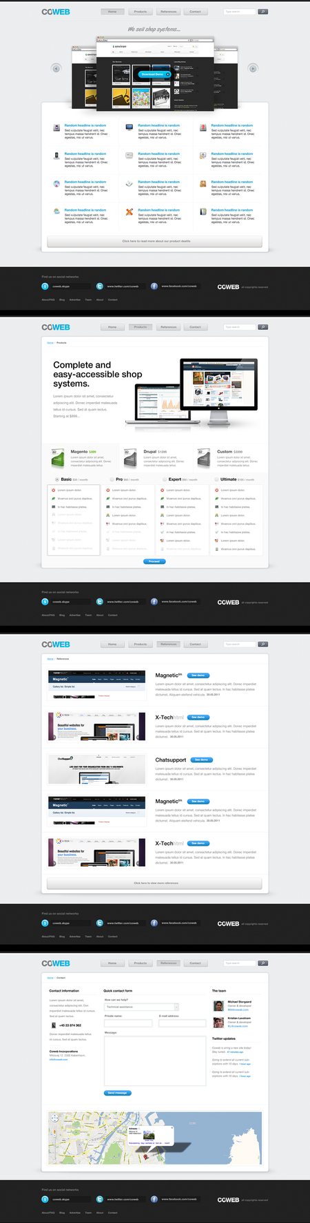 COWEB design by ejsing
