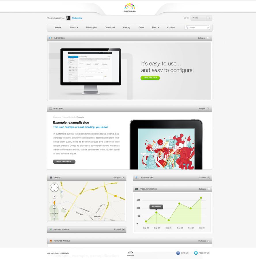 Web Design - Euphorosia by ejsing