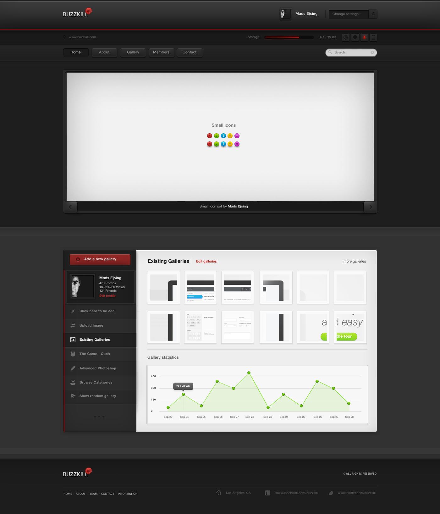 Buzzkill - Website Design by ejsing